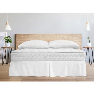 Woven Microfiber Bedskirt Queen - White