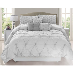Chateau 7PC Queen Comforter  Grey