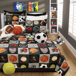 Quilt 2PC Set Twin All Star