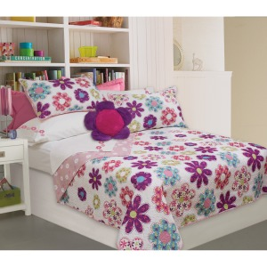 Quilt 3pc Set Dq Holly