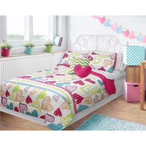 Comforter 2pc Set Microfiber T Sweet Hearts