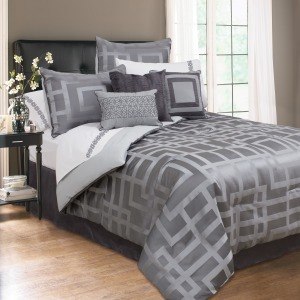 Comforter Carlton 7pc Q Grey