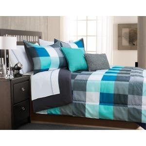 Comforter 3pc K Origin Teal