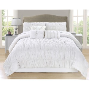 Comforter Paris 7pc Q White