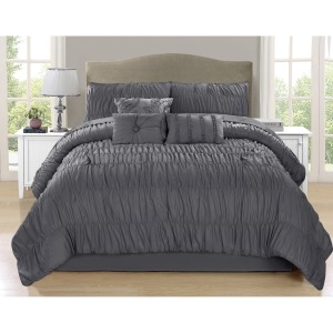 Comforter Paris 7pc K Charcoal