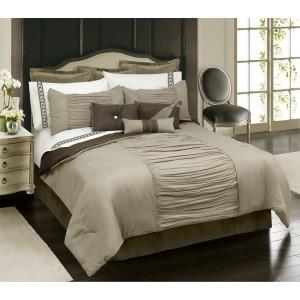 Comforter Alessandra 7pc K Taupe