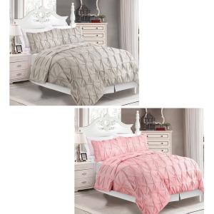 Comforter 3pc Jolie Pintuck Set Dq Asst.