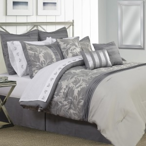 Vivante Grey 7PC Comforter Set - Queen