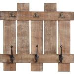 Wood Plank 3 Wall Hooks