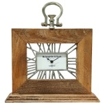 Mango Wood Table Clock - Natural