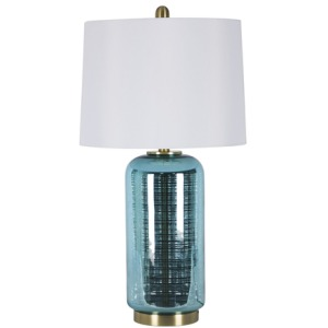 "Glass 29"" Jug Table Lamp - Blue"