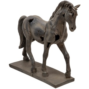 Cracked Horse Sculpture