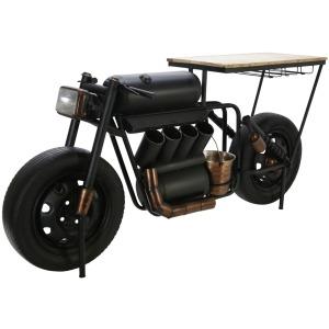 """Metal 34""""H Motorcycle Wine Rack, Black"""
