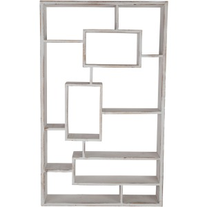 Wooden Multi-tier Wall Shelf, Whitewash