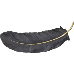 """Black/gold Wall Feather 23.5"""""""