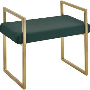 Velveteen Bench, Gold/green