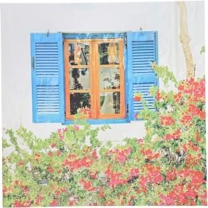 Tree & Window Canvas Print