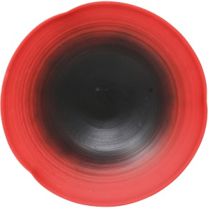 Red/black Striped Ombre Plate