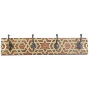 Wood/metal Wall Hook, Brown