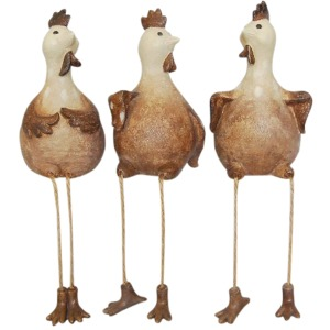 S/3 Hanging Legs Chickens