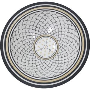 Matte White/black Bowl, Scaledpattern