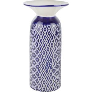 White/blue Diamond Vase 13
