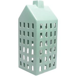 Mint Ceramic House Lantern