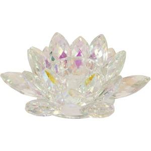 Rainbow Crystal Lotus Votive Holder 6