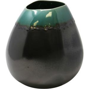 Gunmetal/green Bulb Vase 10
