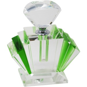 Green Crystal Perfume Bottle 4.75