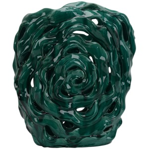 Abstract Teal Green Vase 20.5