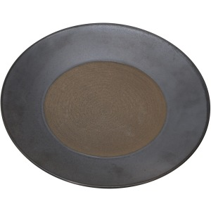 Silver/brown Clay Plate