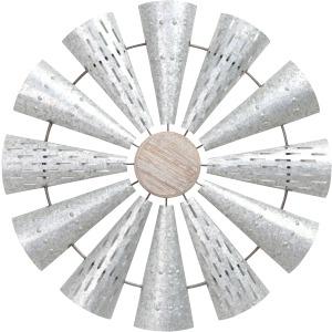 Metal Windmill Wall Decor