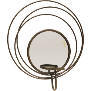 Silver Mirror Sconce Candle Holder 17.8