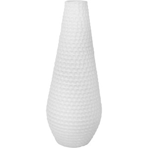 White Ceramic Rope Vase 16.5