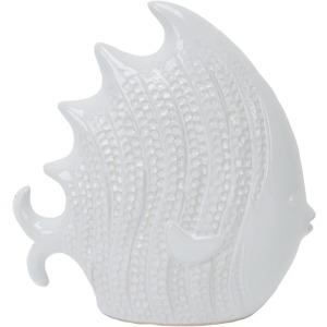White Ceramic Fish 9.5