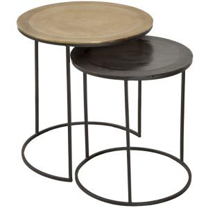 S/2 Aluminum Nesting Tables, Multi