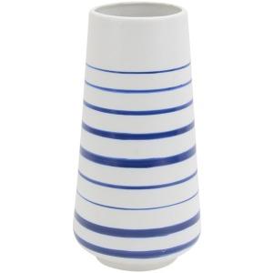 Ceramic Stripped Vase 12