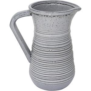 Ceramic 10' Decorative Pitcher, Gray
