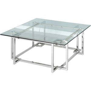 Stainless Steel Cocktail Table, Silver