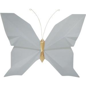 "Resin 10"" W Origami Butterfly Wall Decor, Slate"