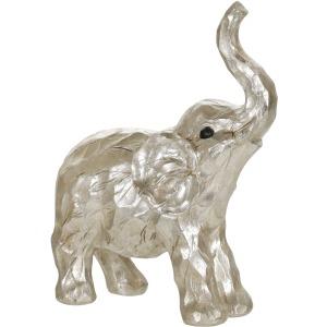 """11"""" Elephant Figurine , Silver"""