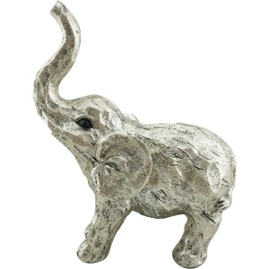 "11"" Elephant Figurine , Gold"