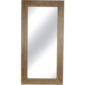 """Wood 76"""" Rectangular Mirror, Brown Wb"""