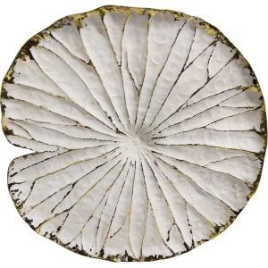 "Polyresin 14"" Lotus Wall Decor, Cream/gold Wb"