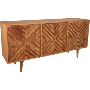 Mango Wood 3-door Cabinet, Brown