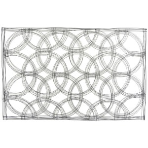 "Metal 43"" Abstract Wall Decor - Black"