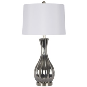 "Ceramic 29"" Table Lamp - Silver"
