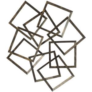 "Metal 41"" 2 Tone Wall Decor, Bronze"