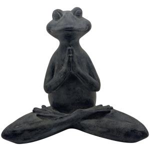 """16"""" Namaste Yoga Frog, Black"""